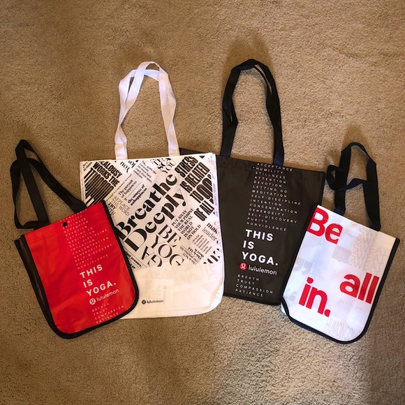 Lululemon reusable bag bundle